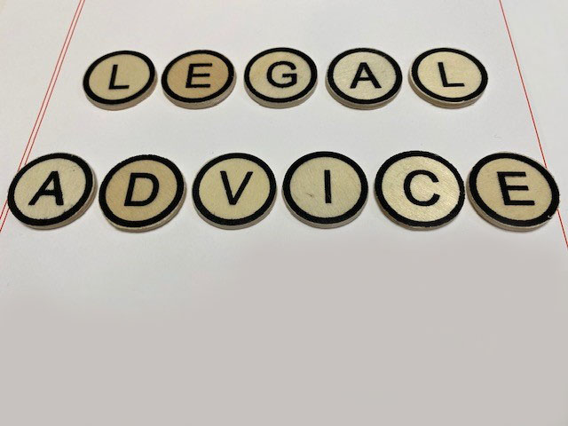 Legal Advice Round Letters - Medium Size